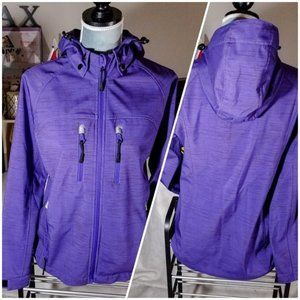 Sears Purple Winter Jacket with Removable Hood